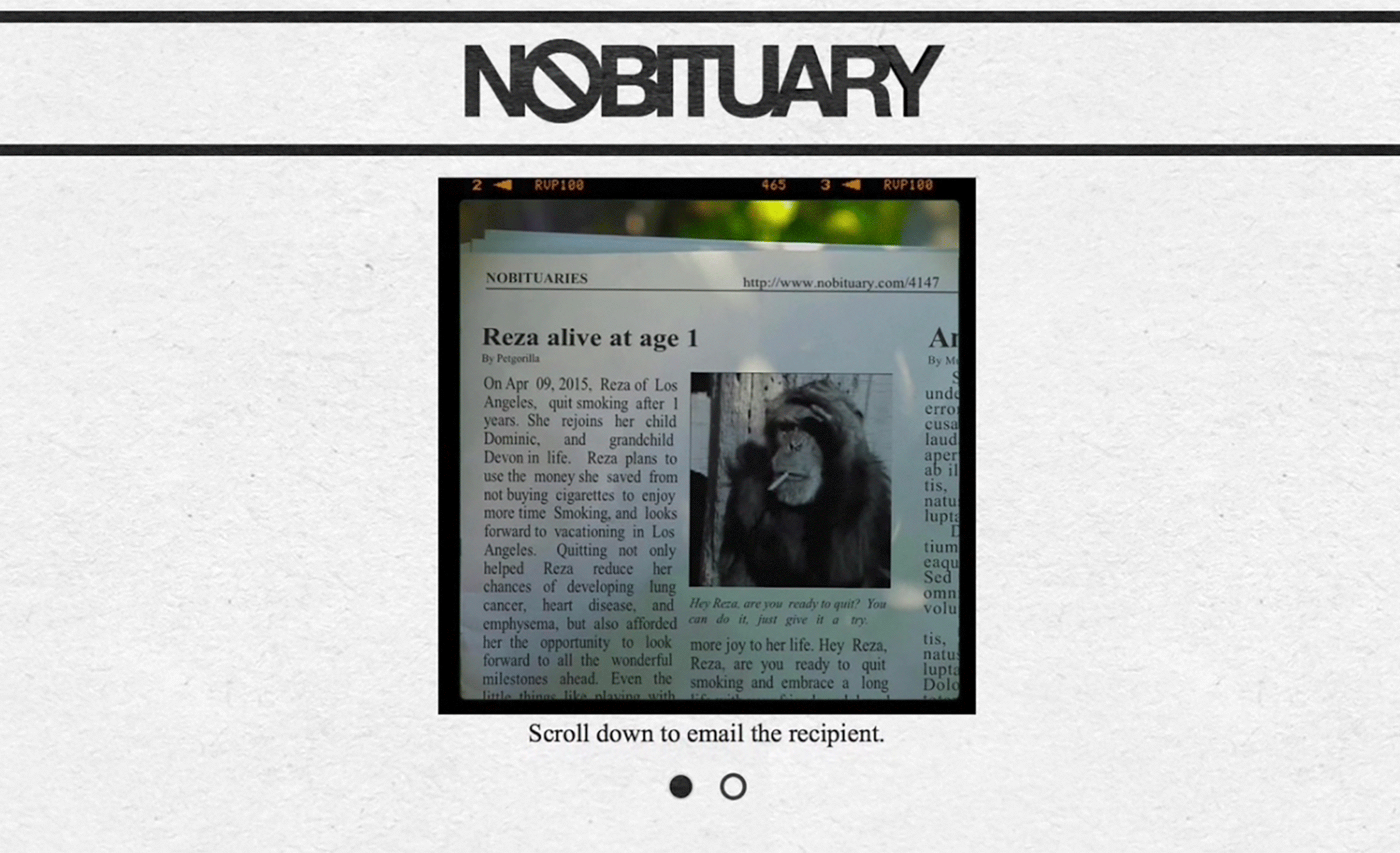 Nobituary – Anti-Smoking Campaign